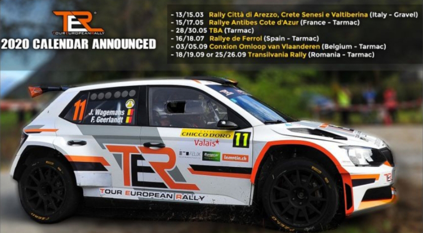 Tour European Rally 2020 Calendar announced !