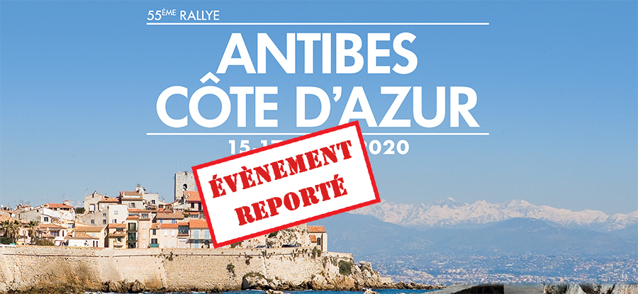 The Antibes Côte d'Azur Rally is looking for a new date !