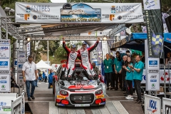 ROSSEL Yohan et FULCRAND Benoît, Citroën C3 R5, podium ambiance during the 2019 French rally championship, rallye d'Antibes from May 17 to 19  at Antibes, France - Photo Thomas Fenetre / DPPI